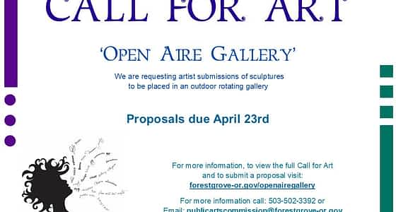 Call to Artists: Open Aire Gallery Sculptures, Deadline April 23