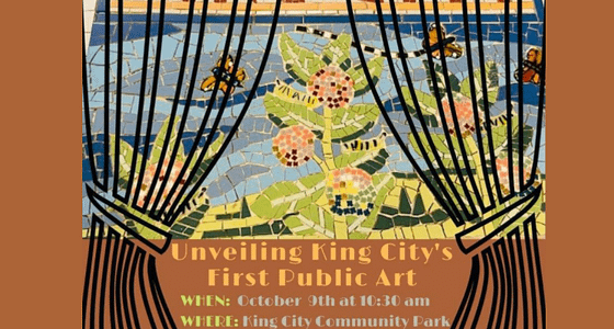 King City Unveils It's First Public Art Piece on October 9